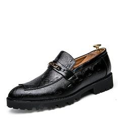 Мужская кожа из микроволокна Лошадь Мокасины вскользь Men's Loafers (260176575)