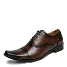 Мужская кожа из микроволокна Cap Toes шнуровка Платья Men's Oxfords (259174504)
