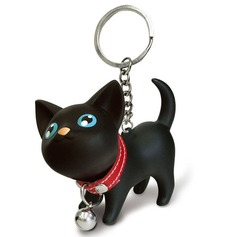 Funny & Reluctant Lovely cat Silver Plated Steel Keychains (120041991)