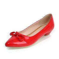 Vrouwen Kunstleer Flat Heel Flats Closed Toe met strik schoenen (086069953)