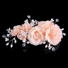 Красивая хрусталь/Перлы ложный/шелковые цветы ободки (Продается в виде единой детали) (042144256)