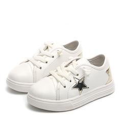 Unisexmodell Lukket Tå Leather flat Heel Flate sko Sneakers & Athletic med Blondér (207157200)