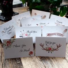 цветочный Стиль Боковой складкой Спасибо карты (набор из 10) (114205149)