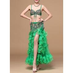 Женщины Одежда для танцев хлопок полиэстер шифон Танец живота Инвентарь (115086455)