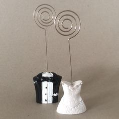 Smoking e Vestido Resina Titulares do cartão do lugar com Strass (Vendido em uma única peça) (051120962)