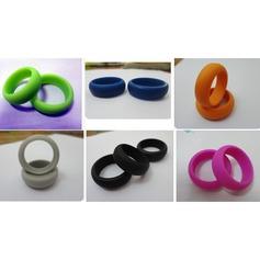 Chic Silicone Unisex Anéis Moda (Vendido em uma única peça) (137140054)