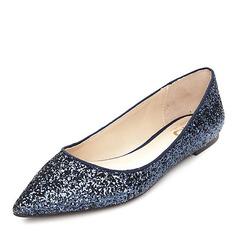 Женщины Мерцающая отделка Плоский каблук На плокой подошве Закрытый мыс обувь (086152984)