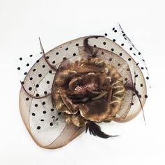 Горячие Искусственного шелка/перо/Тюль лоб ювелирные изделия (042050414)