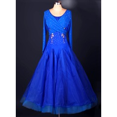 Женщины Одежда для танцев Спандекс Латино Платья (115091494)