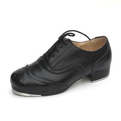 Мужская Кожа из микроволокна На плокой подошве Степ Обувь для танцев (053087768)