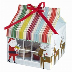 Санта-Клаус картона бумаги Фавор коробки и контейнеры/пирожня Коробки с Ленты (набор из 12) (050028078)