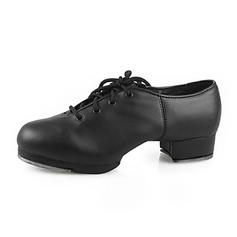 De mujer De los hombres Unisex Cuero Tacones Tap Zapatos de danza (053013333)
