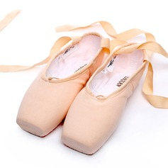 Женщины Холст Обувь Пуанты Обувь для танцев (053123211)