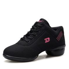 Женщины ткань Танцевальные кроссовки Танцевальные кроссовки с Шнуровка Обувь для танцев (053106475)