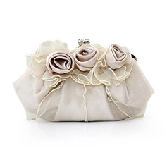 Gorgeous Silk/Tulle Clutches/Satchel (012013430)