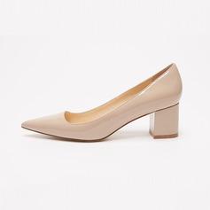 Женщины Лакированная кожа Устойчивый каблук На каблуках обувь (085102136)