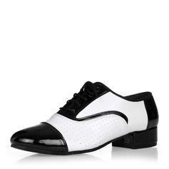 Мужская Натуральня кожа Современный Бальные танцы качать с Шнуровка Обувь для танцев (053146785)