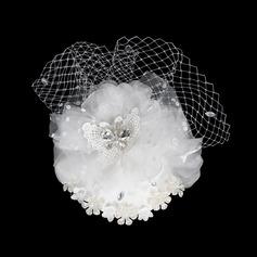 Charmosa Cristal Fascinators/Flores & penas (042015994)