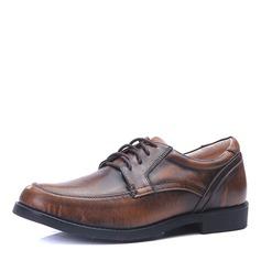 Мужская кожа из микроволокна шнуровка U-Tip Платья Men's Oxfords (259176439)