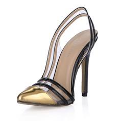 Женщины Лакированная кожа Высокий тонкий каблук На каблуках Закрытый мыс обувь (085054102)