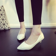Женщины кожа Низкий каблук (рюмка) Закрытый мыс обувь (085150511)