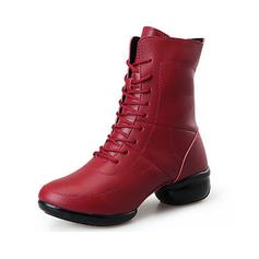 Женщины Натуральня кожа Танцевальные кроссовки Танцевальные Сапоги Обувь для танцев (053093926)