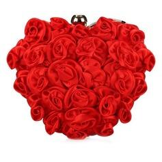 Mode Satin mit Blume Handtaschen (012028456)