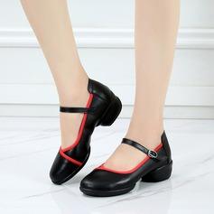 De mujer Piel Zapatillas Estilo Moderno Zapatos de danza (053138890)