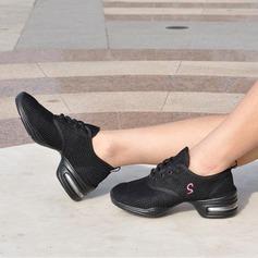 Femmes Tissu Tennis Baskets avec Dentelle Chaussures de danse (053106478)