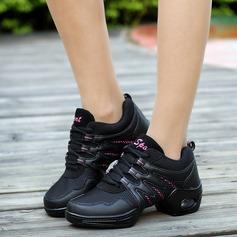 Женщины ткань Танцевальные кроссовки Танцевальные кроссовки с Шнуровка Обувь для танцев (053106487)