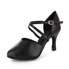Женщины кожа На каблуках На каблуках Бальные танцы с Ремешок на щиколотке Обувь для танцев (053020093)
