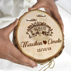 Stile classico/Personalizzato Legno Titolare dell'anello con Cordicella rustica (103201144)