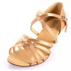 Women's Satin Heels Sandals Latin Dance Shoes (053025583)