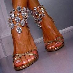 Mulheres Salto agulha Sandálias com Cristal sapatos (087114600)