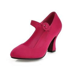 Suède Talon bottier Escarpins Bout fermé avec Boucle chaussures (085043021)