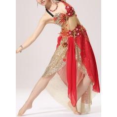 Kvinner Danseklær Bomull Polyester Chiffong Magedans Drakter (115086469)