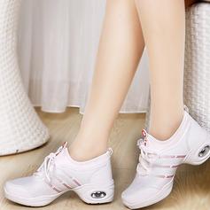 Женщины ткань Танцевальные кроссовки Танцевальные кроссовки с Шнуровка Обувь для танцев (053106482)