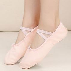 Mulheres Pano Sem salto Bombas Balé Sapatos de dança (053108856)