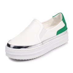Vrouwen Kunstleer Flat Heel Plateau Closed Toe schoenen (086092172)