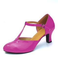 Женщины кожа На каблуках На каблуках Бальные танцы с Т-ремешок Обувь для танцев (053082954)