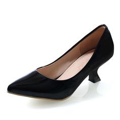 Femmes Similicuir Talon kitten Escarpins Bout fermé chaussures (085060047)