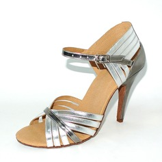 Women's Leatherette Heels Sandals Latin With Buckle Dance Shoes (053146269)