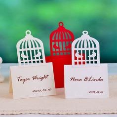 Jolie Cage à oiseaux en forme Papier Nacre Cartons (lot de 12) (050039040)