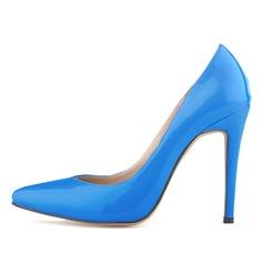 Femmes Cuir verni Talon stiletto Escarpins Bout fermé chaussures (085059011)