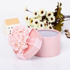 Precioso Cilindros Papel para tarjetas Cajas de regalos con Flores (Juego de 12) (050039696)