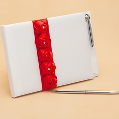 Lovely Rose Rhinestones Guestbook & Pen Set (101047568)