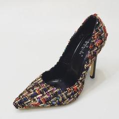 Frauen Stoff Stöckel Absatz Absatzschuhe Geschlossene Zehe mit Andere Schuhe (085143561)