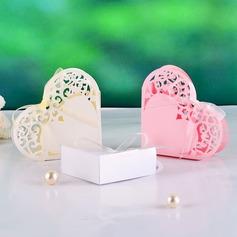 Élégante Forme en cœurs Boîtes cadeaux avec Rubans (Lot de 12) (050039030)