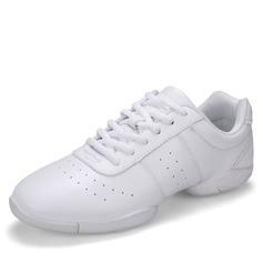 Женщины кожа На плокой подошве Танцевальные кроссовки Танцевальные кроссовки с Шнуровка Обувь для танцев (053103993)