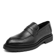 Мужская кожа из микроволокна Пенни Лоафер вскользь Men's Loafers (260173565)